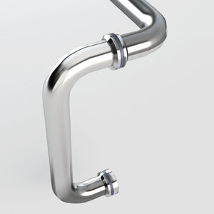 Sunny Shower Polished Chrome Pull Handle and Towel Bar Combination with Metal Washer L-6X18-CH - SUNNY SHOWER