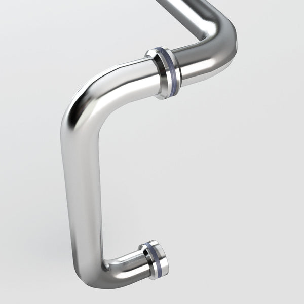 Sunny Shower Polished Chrome Pull Handle and Towel Bar Combination with Metal Washer L-6X18-CH