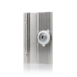Sunny Shower Frameless Sliding Shower Door Top Bracket and Roller 2-Pack Brushed Nickel B020 clip-BN - SUNNY SHOWER