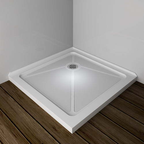 SUNNY SHOWER Acrylic P83 Shower Base for 36 x 36 Shower Enclosure Corner Shower Drain Included, 36