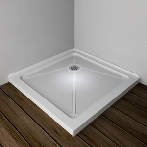 "SUNNY SHOWER Acrylic P83 Shower Base for 36 x 36 Shower Enclosure Corner Shower Drain Included, 36"" x 36"" x 3"" Shower Tray Base, White Color - SUNNY SHOWER"