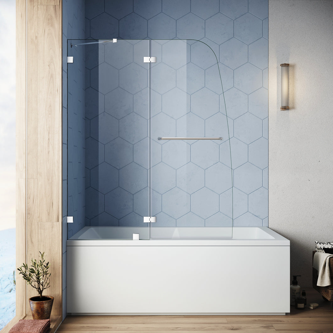Bathtub Door Frameless Hinged Tub Door