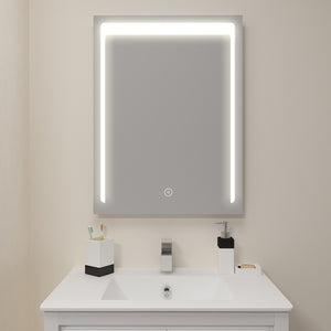 Bathroom mirror with LED LightingswitchWeather Station s3 l71