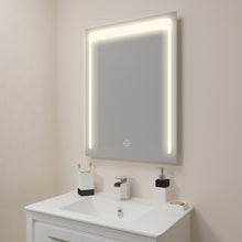 Load image into Gallery viewer, SUNNY SHOWER LED Lighted Bathroom Backlit Vanity Mirror w/ Touch Button, Warm White - SUNNY SHOWER