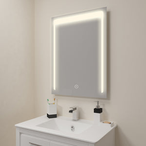 SUNNY SHOWER LED Lighted Bathroom Backlit Vanity Mirror w/ Touch Button, Warm White - SUNNY SHOWER