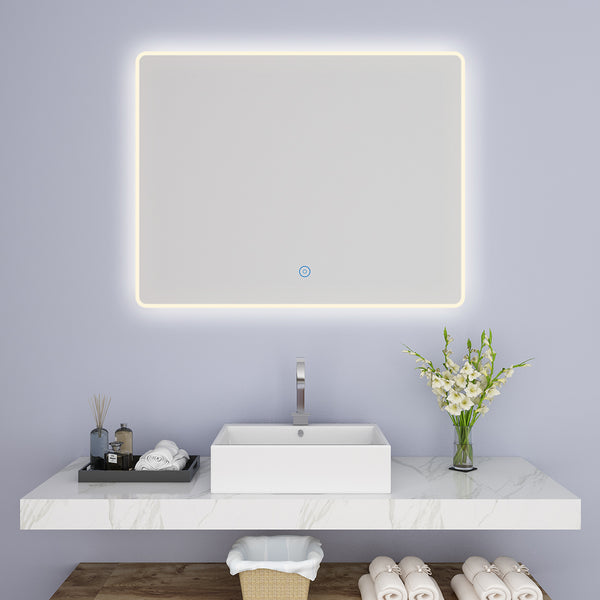 SUNNY SHOWER LED Lighting Bathroom Vanity Sink Mirror w/ Touch Button, Warm White