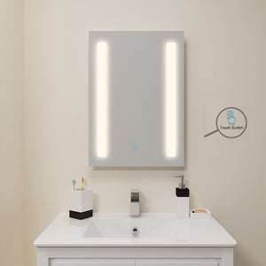 SUNNY SHOWER LED Backlit Bathroom Vanity Mirror wtih Touch Button, Warm White - SUNNY SHOWER