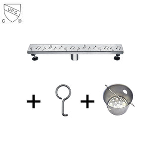Dawn Stainless Steel Linear Shower Drains 24in. LSE240304 Brisbane River Series - SUNNY SHOWER