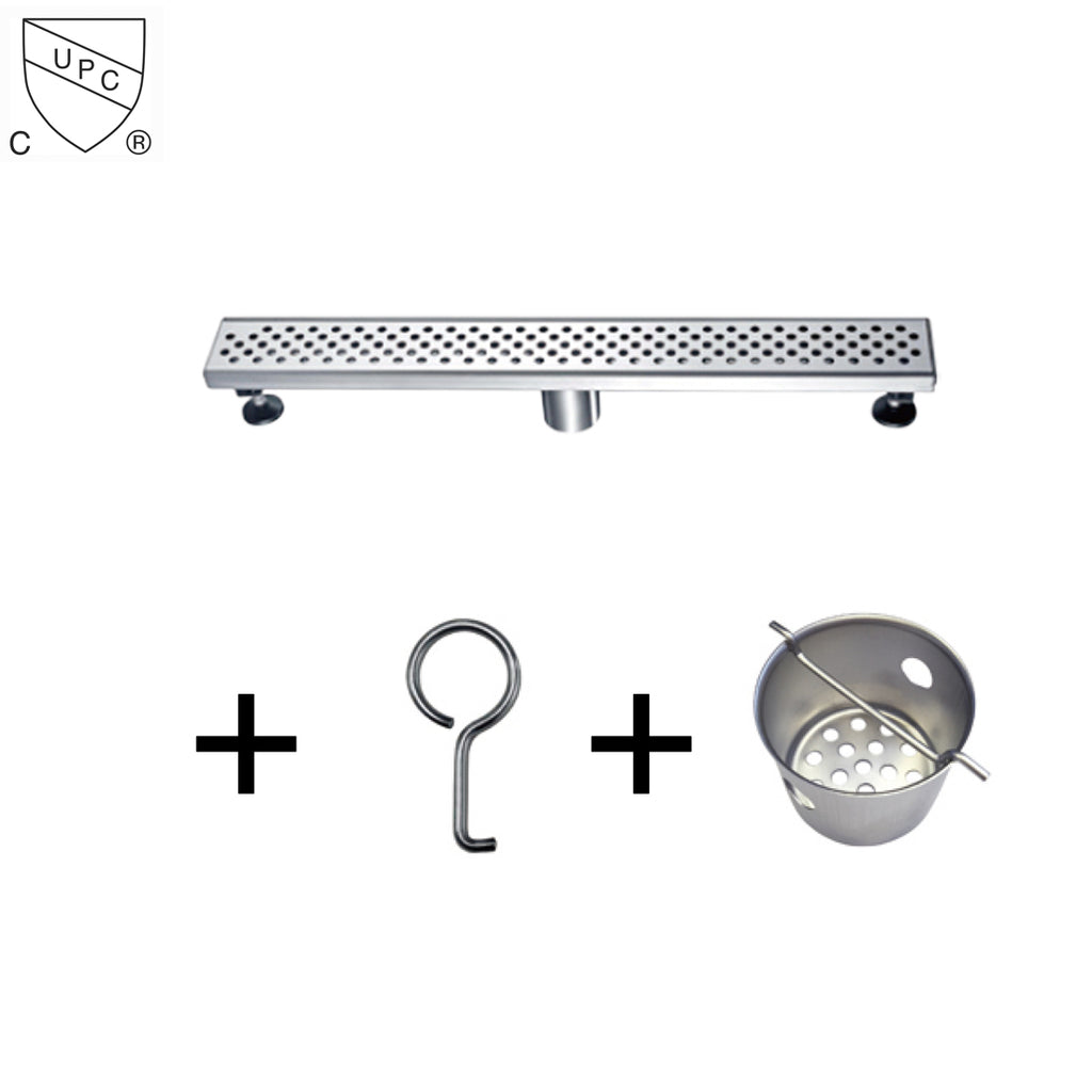 Dawn Stainless Steel Linear Shower Drains 24in Lre240304