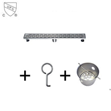 "Load image into Gallery viewer, Dawn 32"" Long Modern Bathroom Stainless Steel Linear Shower Drain various design - SUNNY SHOWER"