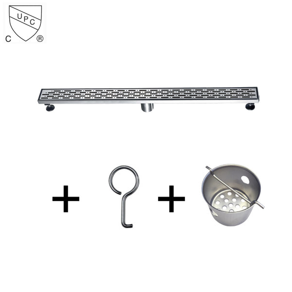 Dawn LRO series Stainless Steel Invisible Linear Shower Floor Drain Wetroom
