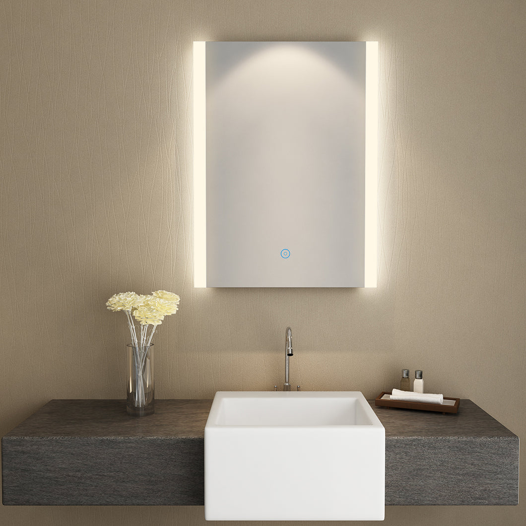 SUNNY SHOWER LED Backlit Bathroom Vanity Mirror with Touch Button, Warm White Color - SUNNY SHOWER