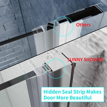 "Load image into Gallery viewer, SUNNY SHOWER 32"" x 72"" Bi-Fold Shower Door 1/4"" Clear Glass Shower Hinged Glass Door, Chrome Finish - SUNNY SHOWER"