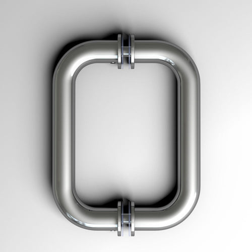 Sunny Shower Polished Chrome Frameless Shower Glass Door Pull Handle Back to Back Stainless Steel PH-CH-6 - SUNNY SHOWER