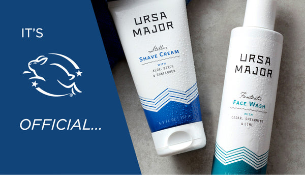 Ursa Major is officially Cruelty-Free Certified