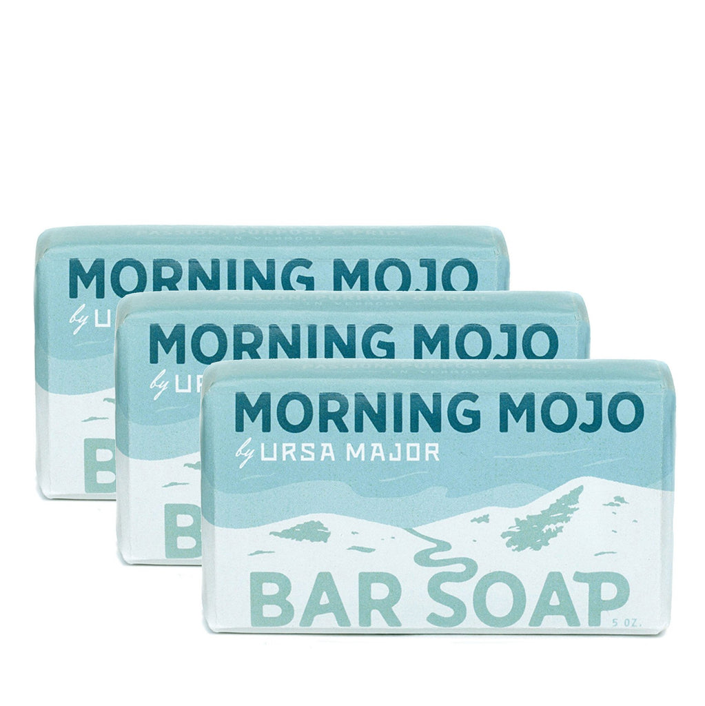 Ursa Major Morning Mojo Bar Soap 3-Pack