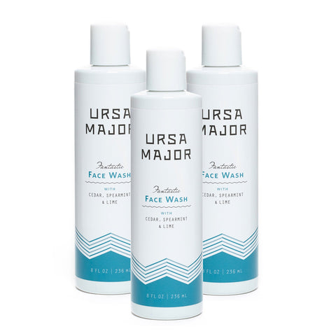 Ursa Major Fantastic Face Wash 3-Pack with Flip Cap