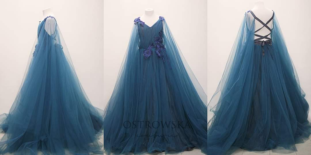 Monument series deep ocean gown