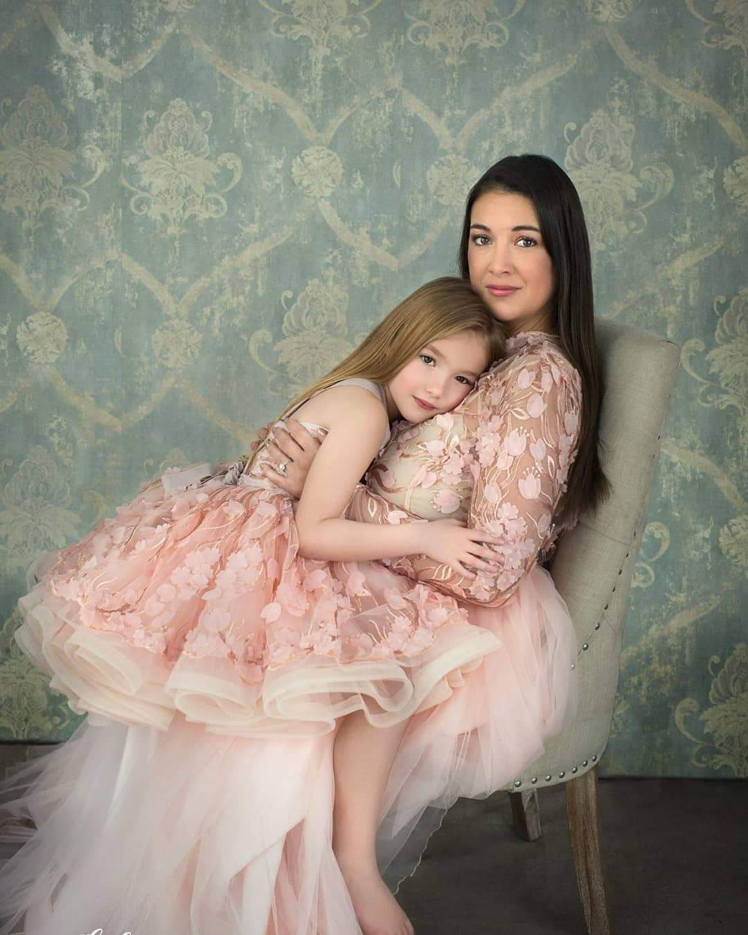 Vivien mommy and me set in blush pink