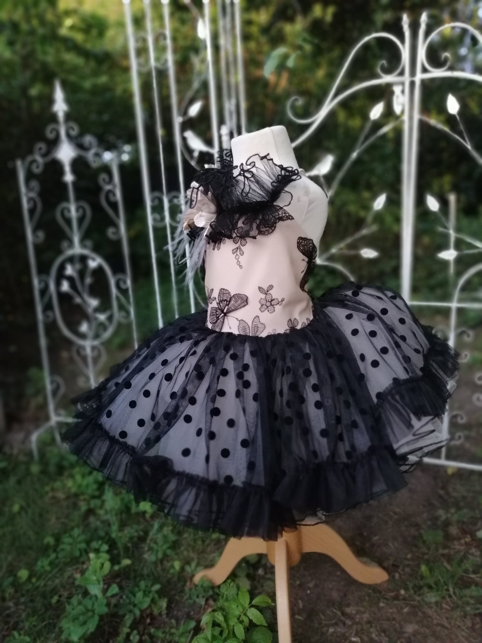 Black Butterfly vintage couture tutu