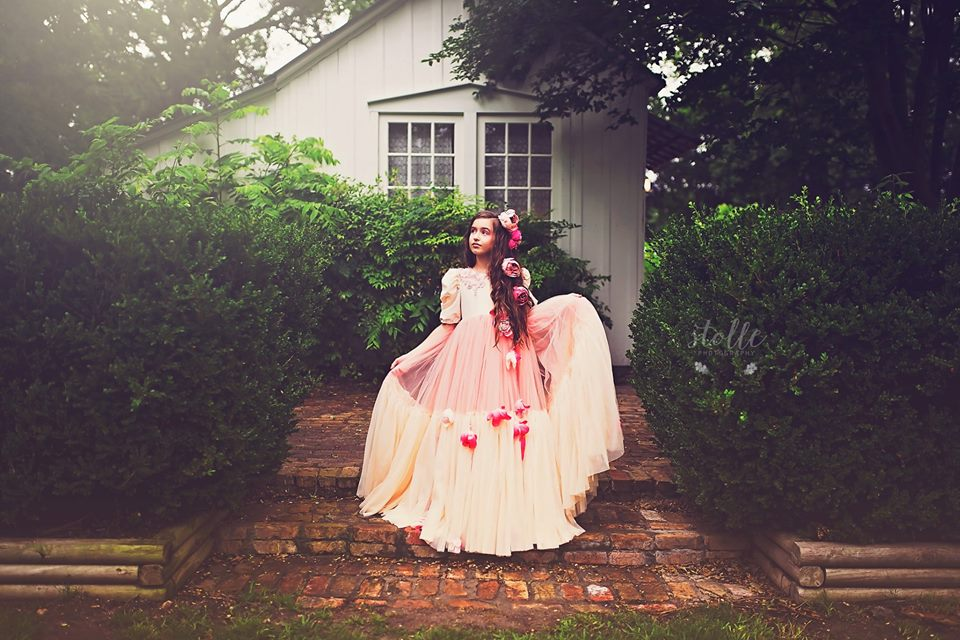 Blossoming Dreams couture gown in vintage style wedding