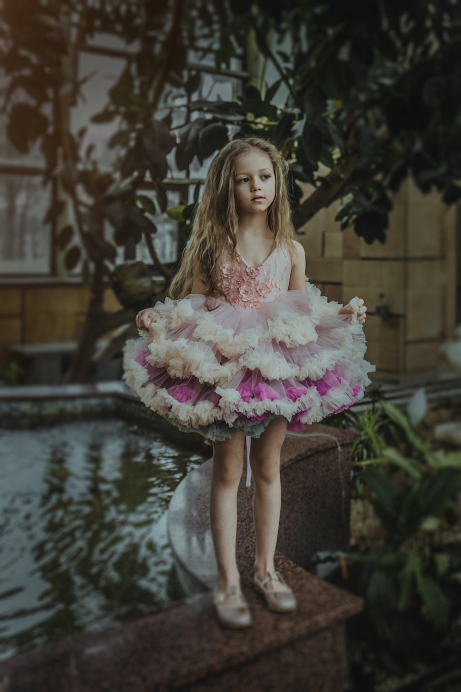 COUTURE TUTU multi color ombre tulle tutu wedding photoshoot