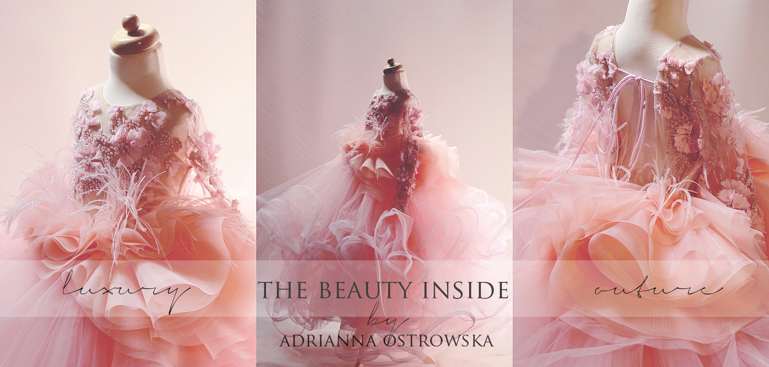 THE BEAUTY INSIDE swan gown