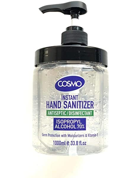 Cosmo 1 Litre Hand Sanitiser With Pump