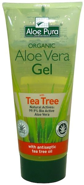Aloe Pura Organic Aloe Vera Gel with Tea Tree 200ml