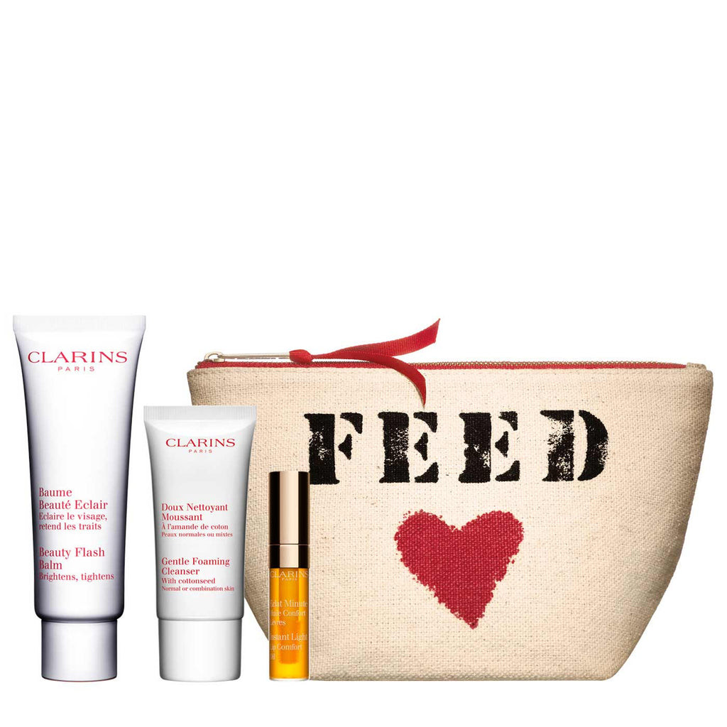 Clarins Beauty Flash Balm Skincare Gift Set (with Cleanser & Lip Oil)