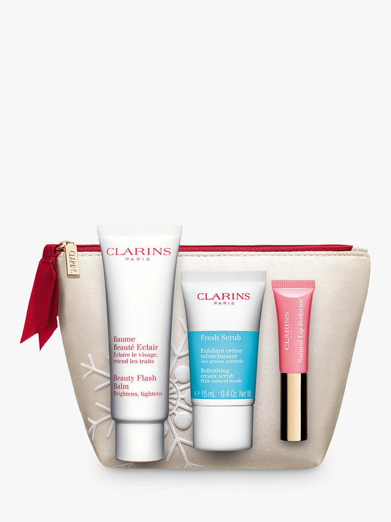 Clarins Beauty Flash Balm Skincare Gift Set (with Scrub & Lip Perfector)