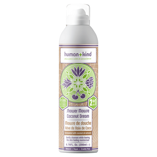 Human+Kind Shower Mousse Coconut Dream