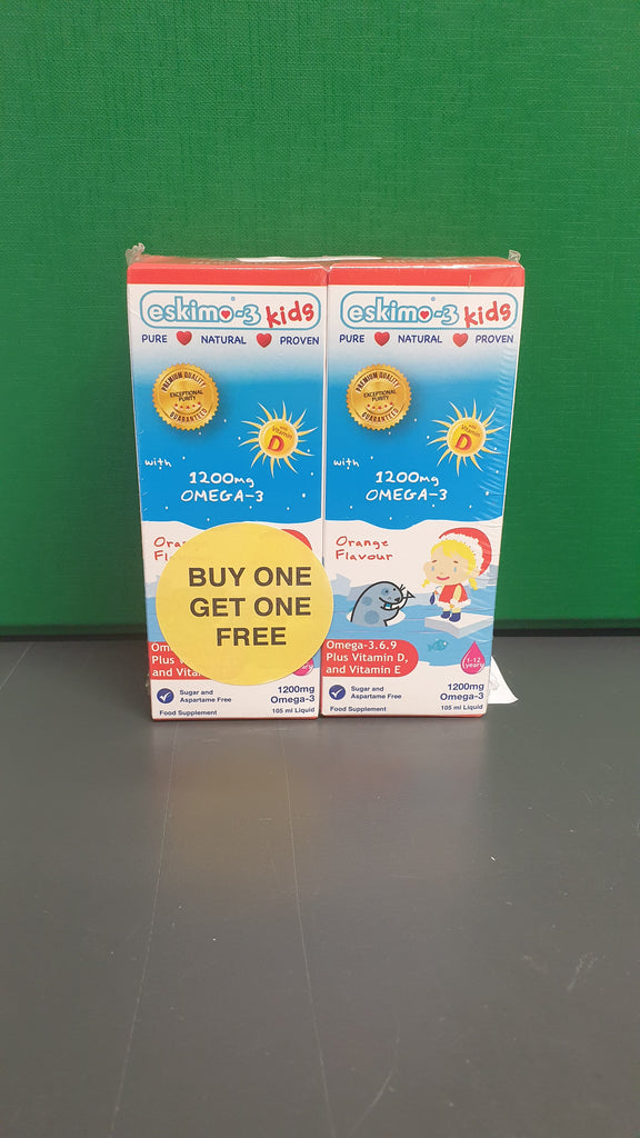 Eskimo-3 Kids Omega 3.6.9 and Vitamin D3 105ml BUY ONE GET ONE FREE