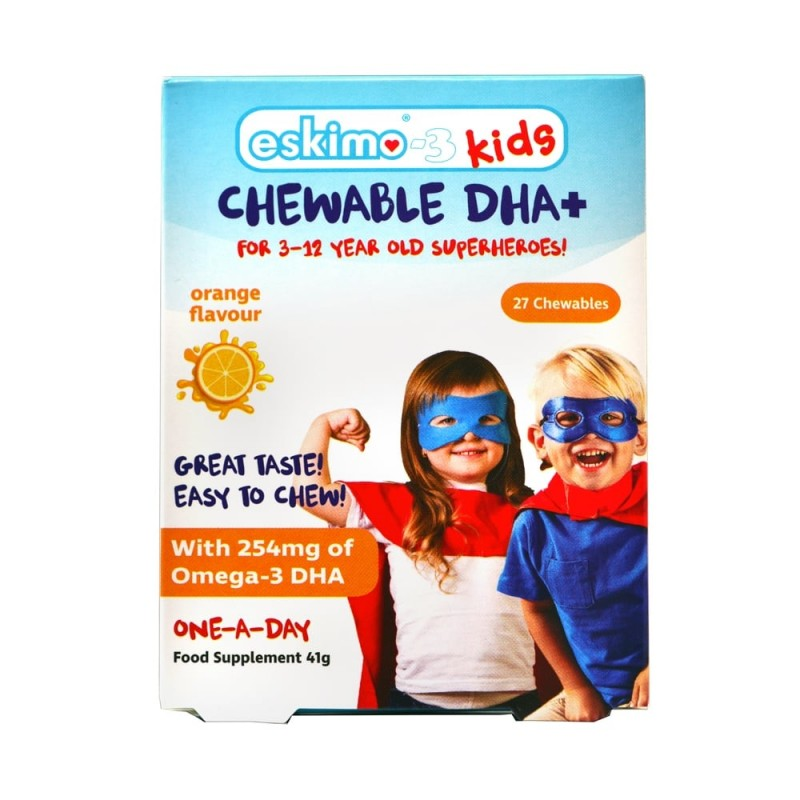 Eskimo-3 Kids Chewable DHA+ 27 Chews