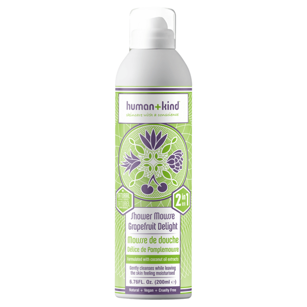 Human+Kind Shower Mousse Grapefruit Delight