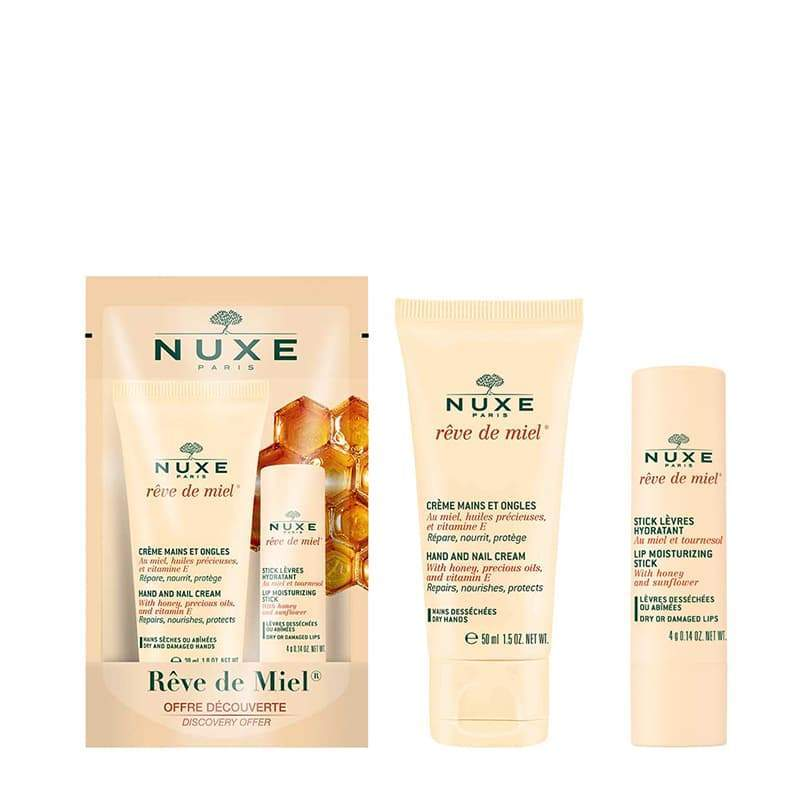 Nuxe Reve De Miel Hand Cream & Lip Balm Twin Pack