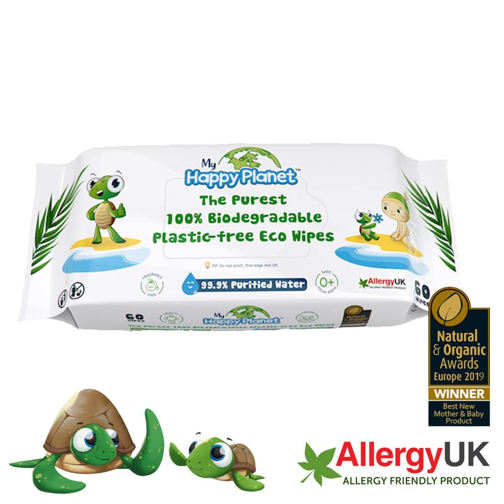 Happy Planet Biodegradable Baby Wipes