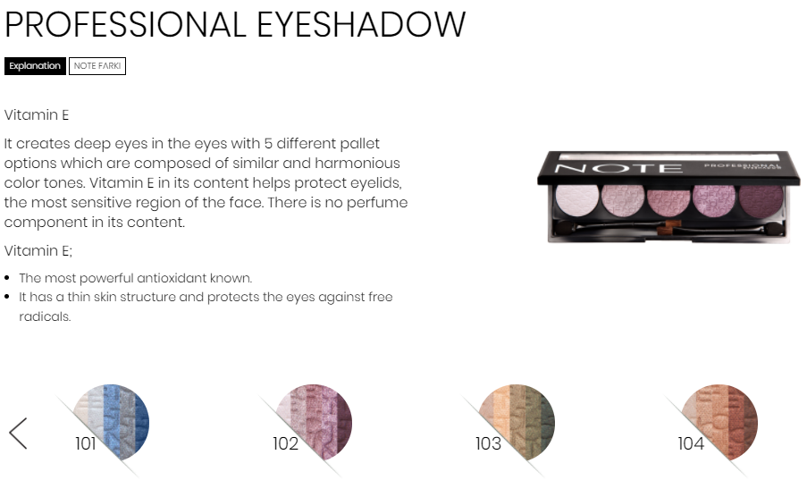 Note Cosmetics Eyeshadow Palette