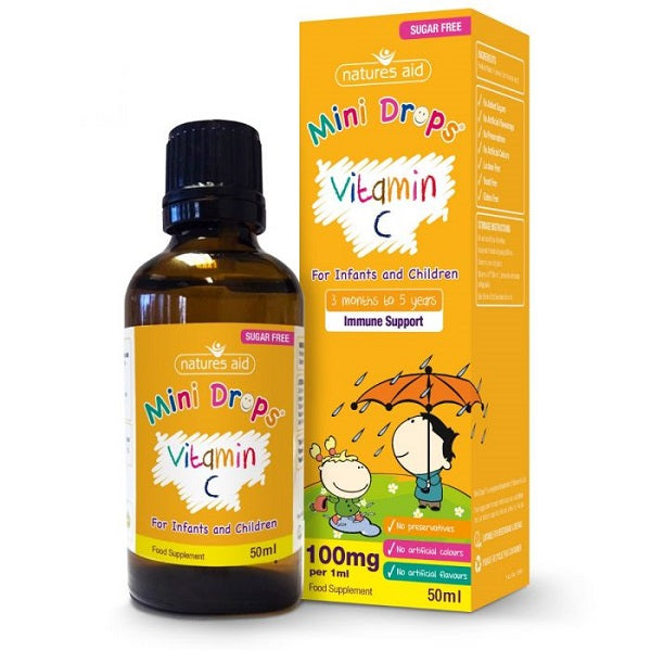 Natures Aid Mini Drops Children's Vitamin C
