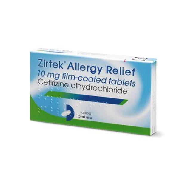 Zirtek Allergy Relief 10mg 30 Pack