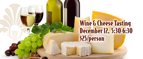 Cambria Wine and Artisan Cheese Tasting - December 12