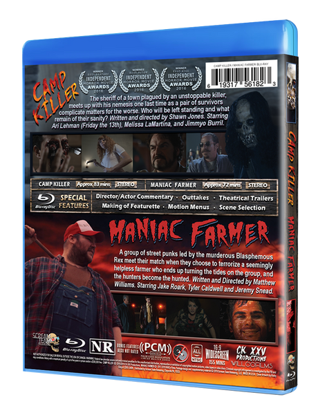 Camp Killer & Maniac Farmer  - Limited Edition Double Feature Blu-ray