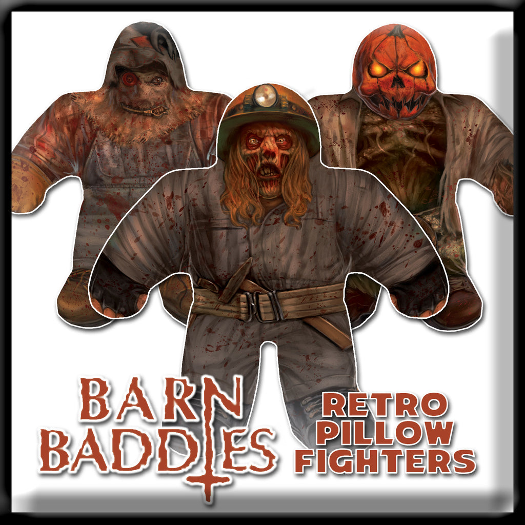 The Barn - Barn Baddies - Retro Pillow Fighters
