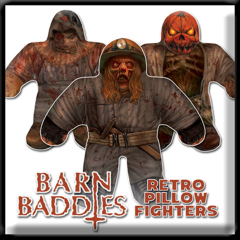 Barn Baddies - Retro Pillow Fighters (Set of 3)