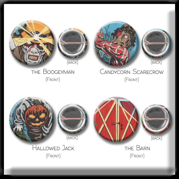 Comic Button Pack - Set of 4
