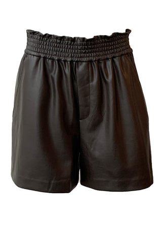 Kaleb Vegan Leather Shorts