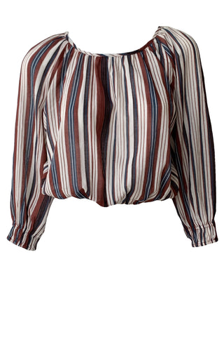 Kiran Shirred Striped Crop - Augusta Twenty