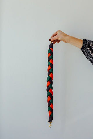 Braided Tricolor Leather Shoulder Strap