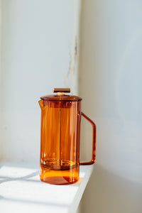 Amber Glass French Press - Augusta Twenty