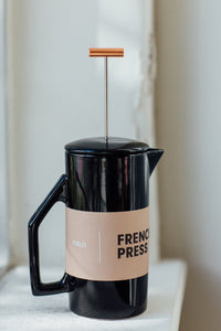 Gloss Black Ceramic French Press